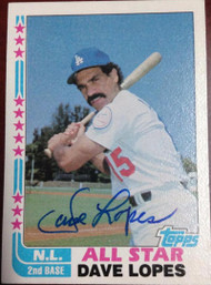 Davey Lopes Autographed 1982 Topps #338