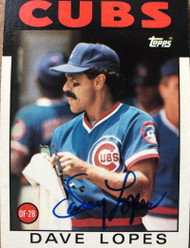 Davey Lopes Autographed 1986 Topps #125