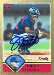 Johnny Estrada Autographed 2003 Topps Traded & Rookies Gold #T25 LE 791/2003