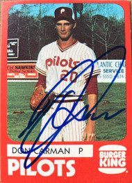 Don Carman Autographed 1980 TCMA Penninsula Pilots Color #5