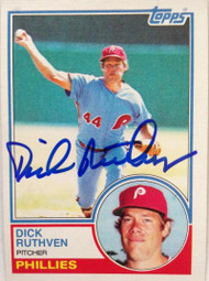 Dick Ruthven Autographed 1983 Topps #484