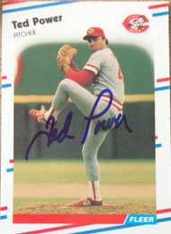 Ted Power Autographed 1988 Fleer Glossy #245