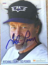 Ted Power Autographed 2011 Choice Louisville Bats #31