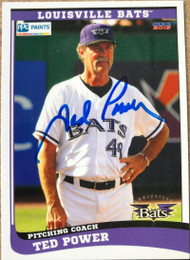 Ted Power Autographed 2015 Choice Louisville Bats #32