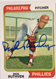 Dick Ruthven Autographed 1974 Topps #47 Rookie Card