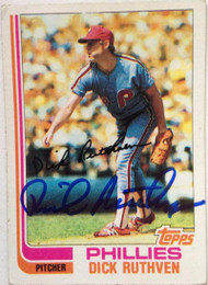 Dick Ruthven Autographed 1982 Topps #317