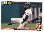 1994 Collector's Choice #587 Willie McGee VG San Francisco Giants