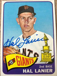 Hal Lanier Autographed 1965 Topps #118 ID: 104275