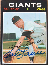 Hal Lanier Autographed 1971 Topps #181