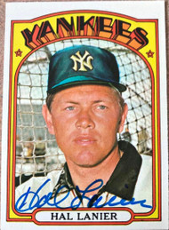Hal Lanier Autographed 1972 Topps #589