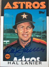 Hal Lanier Autographed 1986 Topps Traded #60T
