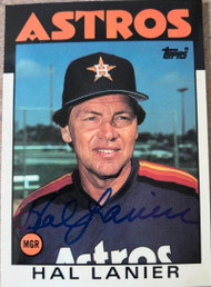 Hal Lanier Autographed 1986 Topps Traded Tiffany #60T