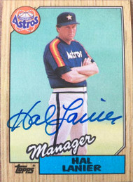Hal Lanier Autographed 1987 Topps #343