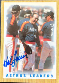 Hal Lanier Autographed 1987 Topps Tiffany #531