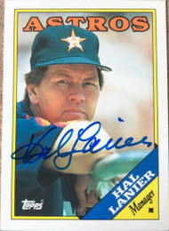 Hal Lanier Autographed 1988 Topps Tiffany #684