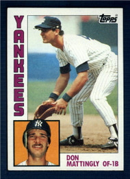 1984 Topps #8 Don Mattingly VG RC Rookie New York Yankees