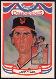 1984 Donruss #7 Jack Clark DK COR VG San Francisco Giants