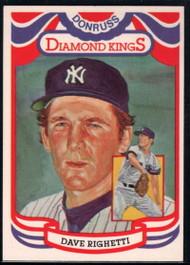 1984 Donruss #10 Dave Righetti DK COR VG New York Yankees