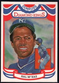 1984 Donruss #11 Hal McRae DK COR VG Kansas City Royals