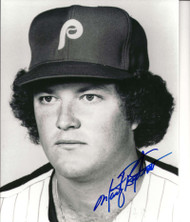 Marty Bystrom Autographed Phillies 8 x 10  Photo