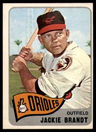 1965 Topps #33 Jackie Brandt VG  Baltimore Orioles