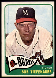 1965 Topps #23 Bobby Tiefenauer VG  Milwaukee Braves