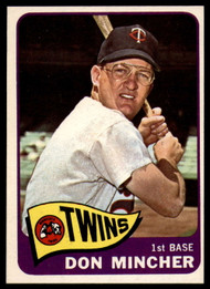 1965 Topps #108 Don Mincher VG  Minnesota Twins