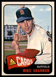 1965 Topps #43 Mike Shannon UER VG  St. Louis Cardinals