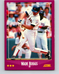 1988 Score #2 Wade Boggs VG Boston Red Sox