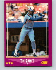 1988 Score #3 Tim Raines VG Montreal Expos