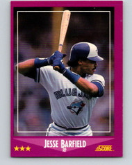 1988 Score #8 Jesse Barfield VG Toronto Blue Jays