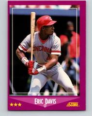 1988 Score #10 Eric Davis VG Cincinnati Reds