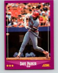 1988 Score #17 Dave Parker VG Cincinnati Reds