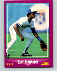 1988 Score #20 Tony Fernandez VG Toronto Blue Jays