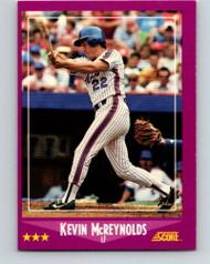 1988 Score #21 Kevin McReynolds VG New York Mets