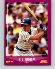 1988 Score #22 B.J. Surhoff VG Milwaukee Brewers