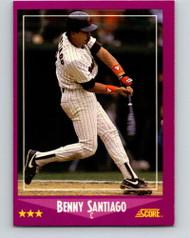 1988 Score #25 Benito Santiago VG San Diego Padres