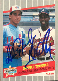 Andres Galarraga and Gerald Perry Dual Autographed 1989 Fleer #638