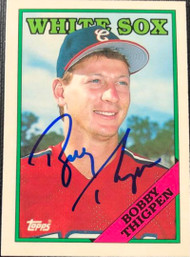 Bobby Thigpen Autographed 1988 Topps Tiffany #613
