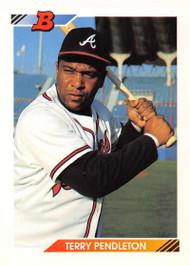 1992 Bowman #254 Terry Pendleton VG Atlanta Braves