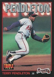 1993 Triple Play #147 Terry Pendleton VG Atlanta Braves