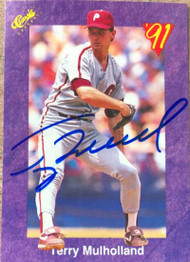 Terry Mulholland Autographed 1991 Classic Game #78