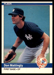 1984 Fleer #131 Don Mattingly VG RC Rookie New York Yankees