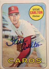 Steve Carlton Autographed 1969 Topps #255