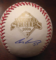 Clay Condrey Autographed 2008 World Series Baseball