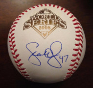 SOLD 3432 Scott Eyre Autographed 2008 World Series Baseball