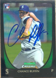 Chance Ruffin Autographed 2011 Bowman Draft Picks & Prospects Chrome #105