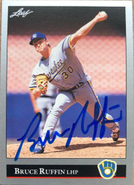 Bruce Ruffin Autographed 1992 Leaf #414