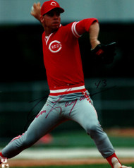 Tim Layana Autographed Reds 8 x 10 Photo