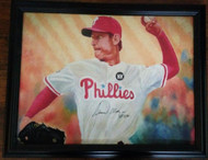 Jamie Moyer Autographed 21.5 x 27 Framed Canvas Print From His Collection Very Nice